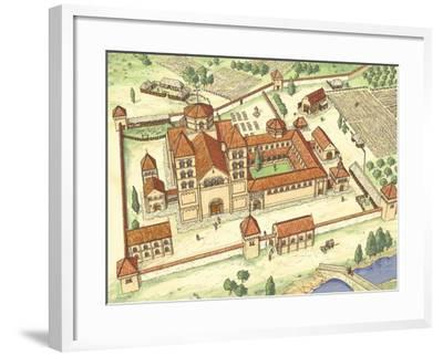 Romanesque Abbey, Model-Fernando Aznar Cenamor-Framed Giclee Print