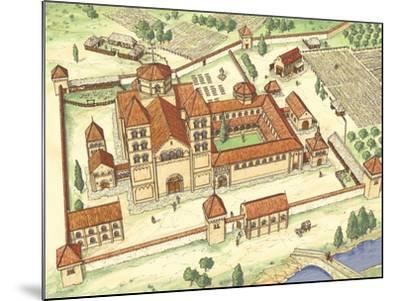 Romanesque Abbey, Model-Fernando Aznar Cenamor-Mounted Giclee Print