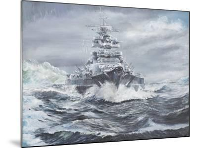 Bismarck Off Greenland Coast 1900Hrs, May 23, 1941-Vincent Booth-Mounted Giclee Print