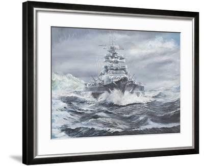 Bismarck Off Greenland Coast 1900Hrs, May 23, 1941-Vincent Booth-Framed Giclee Print