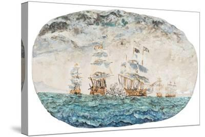 Battle of Trafalgar 1805-Vincent Booth-Stretched Canvas Print