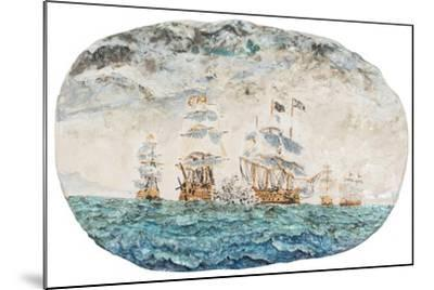 Battle of Trafalgar 1805-Vincent Booth-Mounted Giclee Print