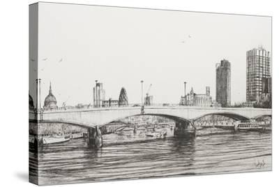 Waterloo Bridge, London-Vincent Booth-Stretched Canvas Print