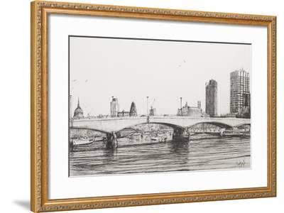 Waterloo Bridge, London-Vincent Booth-Framed Giclee Print