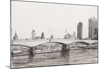 Waterloo Bridge, London-Vincent Booth-Mounted Giclee Print