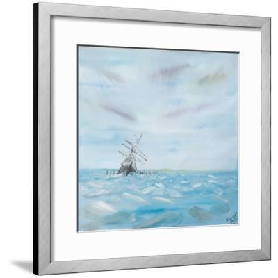 Endurance Trapped by the Antarctic Ice-Vincent Booth-Framed Giclee Print