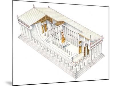 Parthenon, Athens-Fernando Aznar Cenamor-Mounted Giclee Print