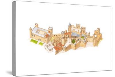 Olite Castle, Navarra, Spain-Fernando Aznar Cenamor-Stretched Canvas Print