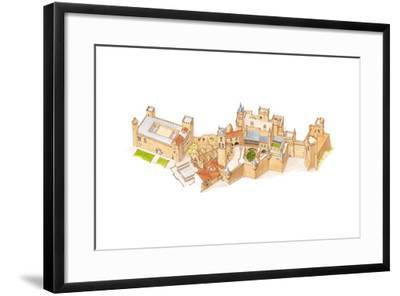 Olite Castle, Navarra, Spain-Fernando Aznar Cenamor-Framed Giclee Print