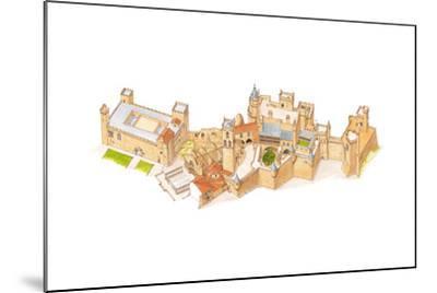 Olite Castle, Navarra, Spain-Fernando Aznar Cenamor-Mounted Giclee Print