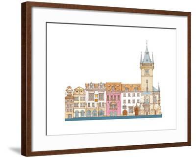 Old Town Hall, Prague, Czech-Fernando Aznar Cenamor-Framed Giclee Print