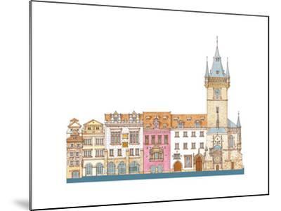 Old Town Hall, Prague, Czech-Fernando Aznar Cenamor-Mounted Giclee Print