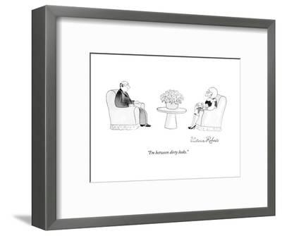 """I'm between dirty looks."" - New Yorker Cartoon-Victoria Roberts-Framed Premium Giclee Print"