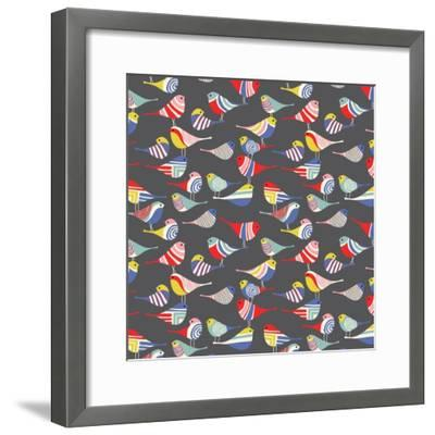 Modern Bird Flock--Framed Giclee Print