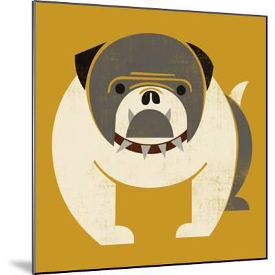 Plakastil Bulldog--Mounted Giclee Print