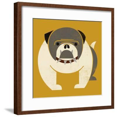 Plakastil Bulldog--Framed Giclee Print
