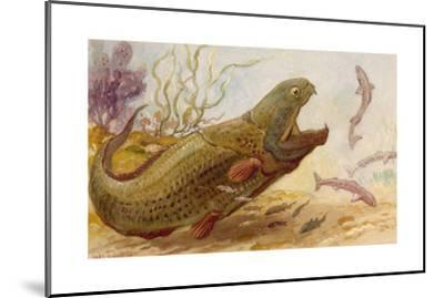 The Extinct Dinichthys Fish Could Grow Up to Twenty-Five Feet Long-Charles R. Knight-Mounted Giclee Print