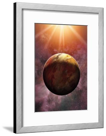 Newly Discovered Planet Gliese 581 E-Dana Berry-Framed Giclee Print