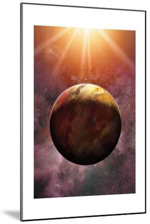 Newly Discovered Planet Gliese 581 E-Dana Berry-Mounted Giclee Print