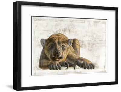A Marsupial Lion, Thylacoleo Carnifex-Adrie and Alfons Kennis-Framed Giclee Print