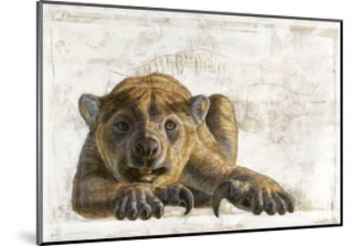A Marsupial Lion, Thylacoleo Carnifex-Adrie and Alfons Kennis-Mounted Giclee Print