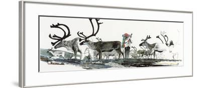 Keith Nyitray Photographs Caribou During their Tundra Migration-Jack Unruh-Framed Giclee Print