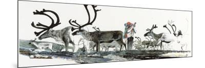 Keith Nyitray Photographs Caribou During their Tundra Migration-Jack Unruh-Mounted Giclee Print