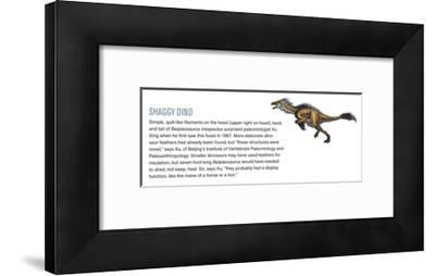 Quill-Like Filaments on the Head, Back and Tail of Beipiaosaurus Inexpetus-Xing Lida-Framed Giclee Print