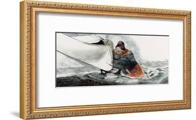 A Man Falls Through Ice on the Noatak River-Jack Unruh-Framed Giclee Print