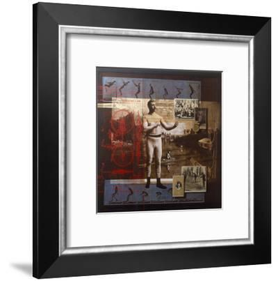A Collage Depicts Famous Sports Figures from the Twentieth-Century-Fred Otnes-Framed Giclee Print