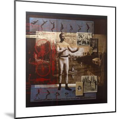 A Collage Depicts Famous Sports Figures from the Twentieth-Century-Fred Otnes-Mounted Giclee Print