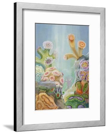 Coral Polyps Reproduce by Splitting in Half-Else Bostelmann-Framed Giclee Print