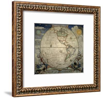 N.C. Wyeth's Painting of the Western Hemisphere-Newell Convers Wyeth-Framed Giclee Print