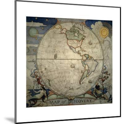 N.C. Wyeth's Painting of the Western Hemisphere-Newell Convers Wyeth-Mounted Giclee Print