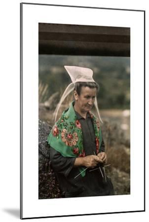 The Woman Guardian of the Tour De Kerroch Knits-Gervais Courtellemont-Mounted Photographic Print