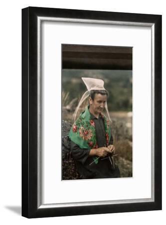 The Woman Guardian of the Tour De Kerroch Knits-Gervais Courtellemont-Framed Photographic Print