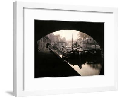 A View of Ile-De-La-Cite from under a Bridge-Gervais Courtellemont-Framed Photographic Print