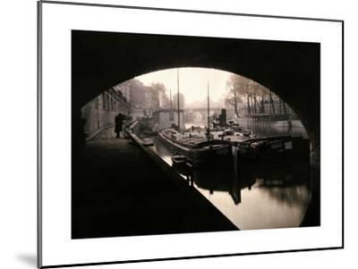 A View of Ile-De-La-Cite from under a Bridge-Gervais Courtellemont-Mounted Photographic Print