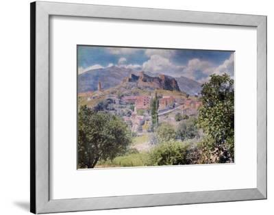 The Fortress Clissa Stands Tall Behind the Village Klis-Hans Hildenbrand-Framed Photographic Print
