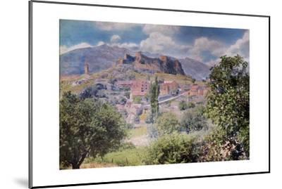 The Fortress Clissa Stands Tall Behind the Village Klis-Hans Hildenbrand-Mounted Photographic Print