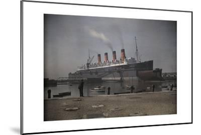 "A View of the Cunard S.S. ""Mauretania"" at Dock-Clifton R^ Adams-Mounted Photographic Print"