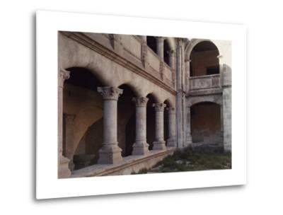 A Close Up View of the Exterior Walls of a Convent in Salamanca-Gervais Courtellemont-Metal Print