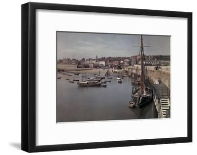 A View of the Harbor in the Resort Town of Ramsgate-Clifton R^ Adams-Framed Photographic Print