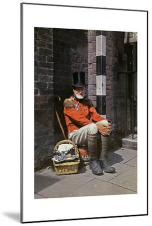 A War Veteran Sells Matches on the Street-Clifton R^ Adams-Mounted Photographic Print