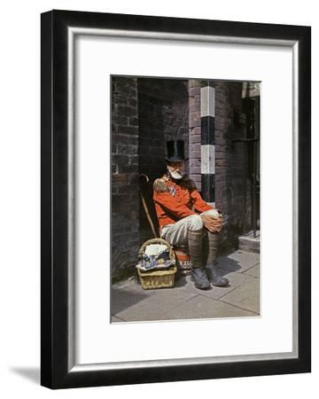 A War Veteran Sells Matches on the Street-Clifton R^ Adams-Framed Photographic Print