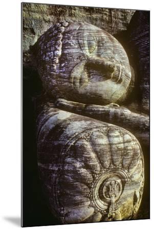 The Head of the Gal Vihara Reclining Buddha Statue at Polonnaruwa, Sri Lanka-David Hiser-Mounted Photographic Print