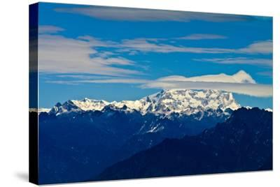 The Rugged Snow and Ice Covered Peak of Mount Kula Kangri, the Highest Mountain in Bhutan-Jason Edwards-Stretched Canvas Print