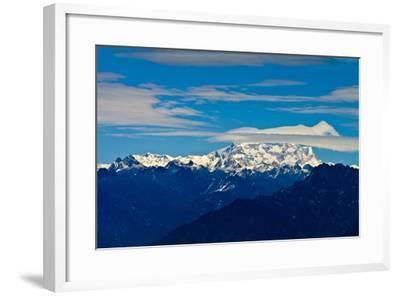The Rugged Snow and Ice Covered Peak of Mount Kula Kangri, the Highest Mountain in Bhutan-Jason Edwards-Framed Photographic Print