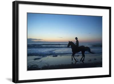 A Cowboy on Virginia Beach, Virginia-Joel Sartore-Framed Photographic Print