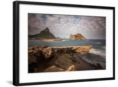 A Woman Stares Out at the Dramatic Landscape of Praia Do Sueste on Fernando De Noronha-Alex Saberi-Framed Photographic Print